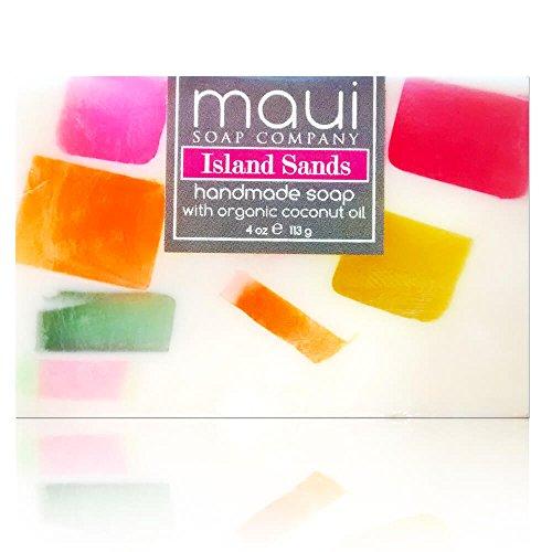 Maui Soap Company Handmade Hawaiian Soap (4 Ounce, Island Sands) (Handmade Sand)