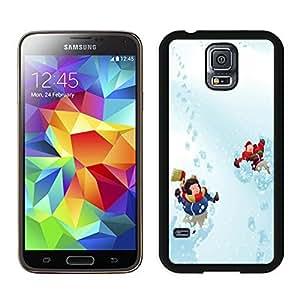 Beautiful DIY Designed With Fun in the Snow Cover Case For Samsung Galaxy S5 I9600 G900a G900v G900p G900t G900w Black Phone Case CR-218