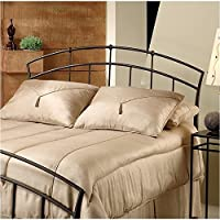 Hawthorne Collections Full Queen Metal Spindle Headboard in Dark Brown