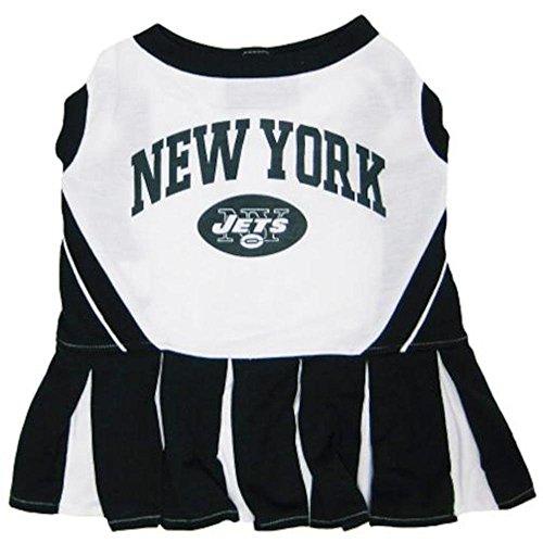 Pets First NFL New York Jets Dog Cheerleader Dress, X-Small