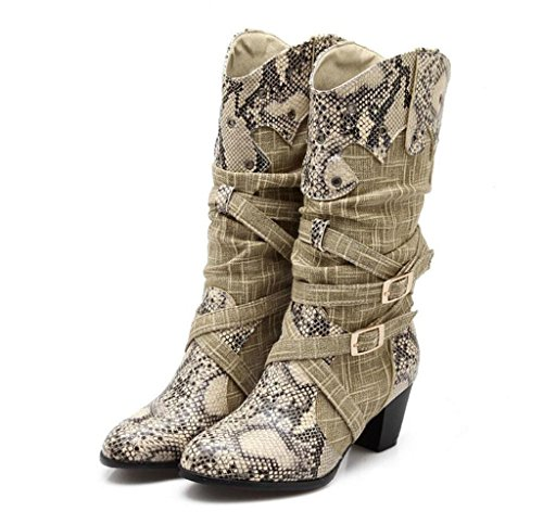 Thigh Wedding Boots Boots Spell Party Fashion Gift Pattern Color Size Boots Martin Fashion High Large a HETAO Boots Snakeskin Knee Banquet Boots Womens The Over Y1RHWRz