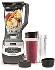 Ninja BL660C Professional Countertop Blender with 1100-Watt Base, 72 Oz Total Crushing Pitcher and (2) 16 Oz Cups for Frozen Drinks and Smoothies, Silver/Gray, 1100W, (Canadian Version)