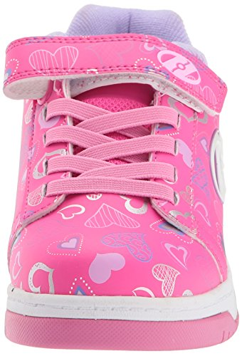 Heelys X2 Dual Up Multihearts Schuhe rosa Mädchen Hot Pink/White/Hearts