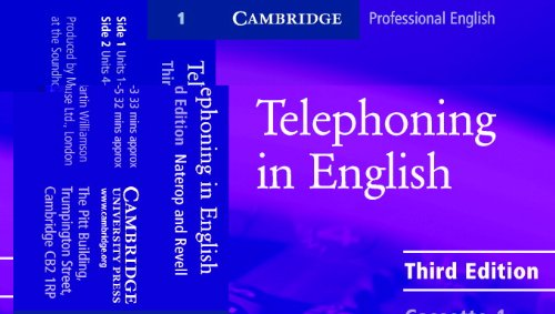 Telephoning in English Audio Cassette (set of 2) (Cambridge Professional English)