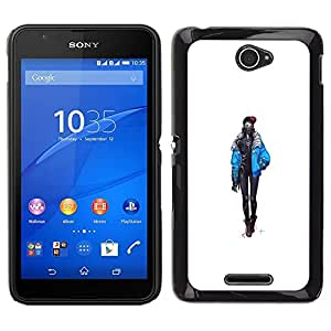 All Phone Most Case / Oferta Especial Duro Teléfono Inteligente PC Cáscara Funda Cubierta de proteccion Caso / Hard Case Sony Xperia E4 // Goth Chick