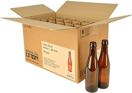Vichy - Botella de cerveza (25 cl, 26 mm, 24 unidades), color marrón: Amazon.es: Hogar