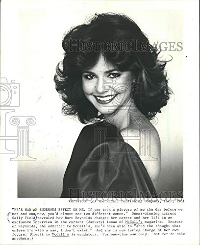 1981 Press Photo Oscar winning Actress Sally Field. - mjp13430 - Historic Images