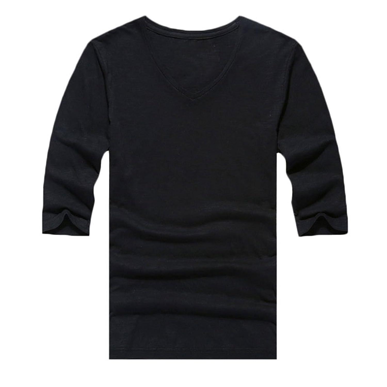 Design t shirt colar - Amazon Com Zbrandy Men S V Neck T Shirts Half Sleeve Fitness Clothing