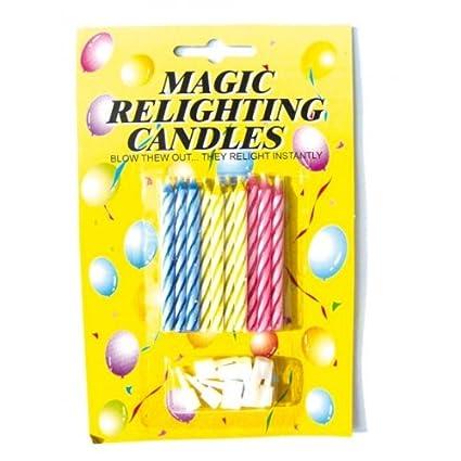 Lote de 10 Velas mágicas y 10 soportes para tartas de ...