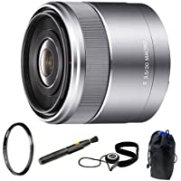 Sony DSLR SEL50F18 Sel 50mm F1.8 Nex System Camera Lens + Capkeeper + Lens Pouch + UV Portector + Accessory Kit