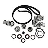 DNJ Timing Belt Kit with Water Pump & Hydraulic Tensioner TBK718WP for 02-09 SAAB Subaru 4 Cyl. 2.0L 2.5L DOHC 16V EJ205 EJ255 EJ257