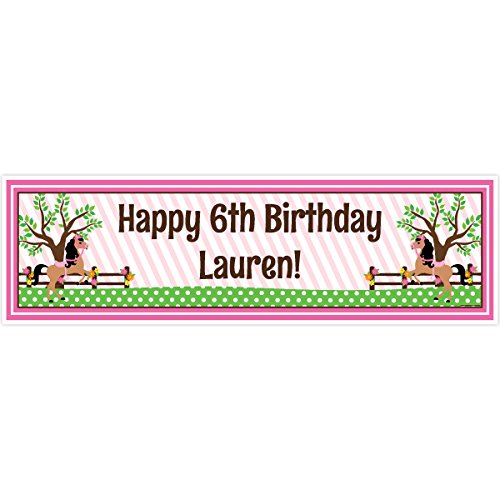 (Playful Pony 5 Ft. Large Personalized Banner)
