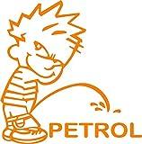 Indiashopers Boy Petrol Sides, Windows Car Sticker (Orange)