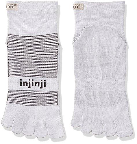 Injinji 2.0 RUN Lightweight Mini Crew Coolmax Xtra Life TOE Socks Gray Size L
