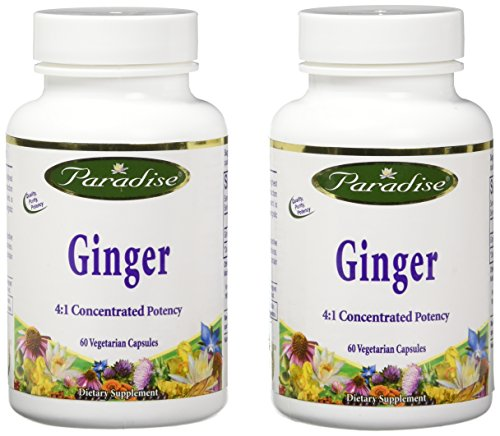 Paradise Herbs Rainforest Ginger 2.5% Gingerols, 120 Count (Forest Rain Ginger)