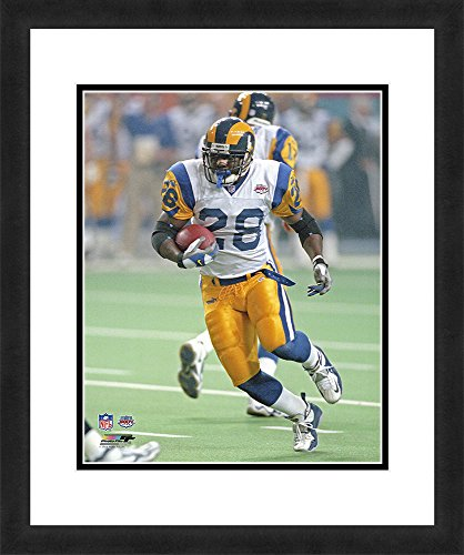 """NFL St. Louis Rams Marshall Faulk, Beautifully Framed and Double Matted, 18"""" x 22"""" Sports Photograph"""