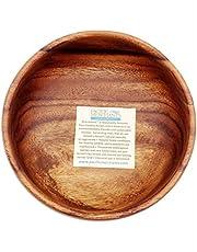 Pacific Merchants K0464 Acaciaware Acacia Wood Round Calabash Serving/Salad Bowl
