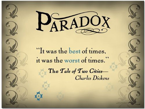Literary Tools: Paradox English Literature Poster featuring a quote from