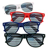USA American Flag Sunglasses Glasses Patriot Shades July Independence (4 Pack) For Sale