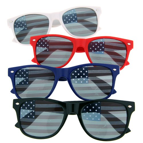 USA American Flag Sunglasses Glasses Patriot Shades July Independence (4 - Sunglasses Ok