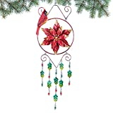 Collections Etc Poinsettia Wind Chime Christmas Decoration Review
