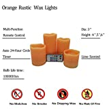 Adoria Orange Flameless Led Candle Set of 4, Real
