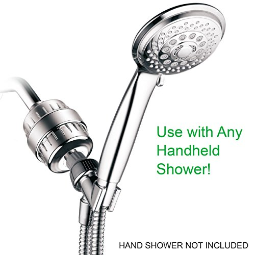 hotelspa 1126 universal high performance shower filter with replaceable 2 stage kdf cag. Black Bedroom Furniture Sets. Home Design Ideas