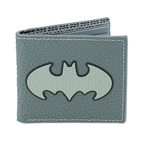 DC Comics Batman Icon Textured Rubber Bifold Wallet ()
