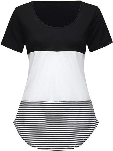 OPAKY Ropa Mujeres Camisetas Camisa de Manga Corta con ...