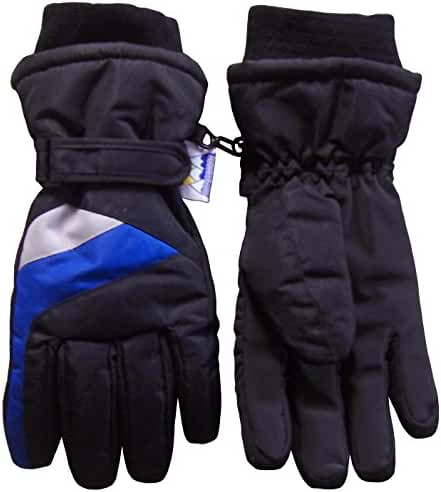 N'Ice Caps Kids Thinsulate and Waterproof Colorblocked Ski Gloves