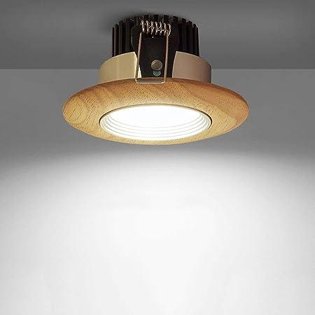 Modenny 5W7W Luces de Techo empotradas de Madera LED ...