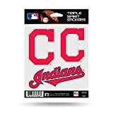 Cleveland Indians Triple Sticker Multi Decal Spirit Sheet Auto Home Baseball