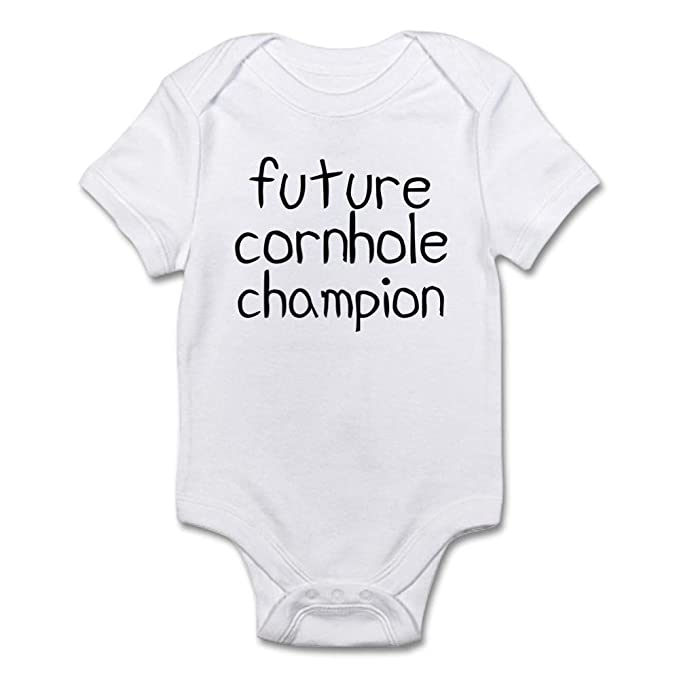 1ffc10f74869 CafePress Future Cornhole Champion Body Suit Cute Infant Bodysuit Baby  Romper Cloud White