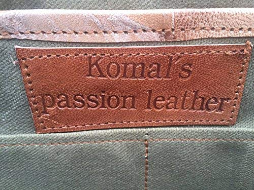 f52b6eeeaa73 Komal s Passion Leather 18 Inch Retro Leather Briefcase Vintage Laptop Messenger  Bag