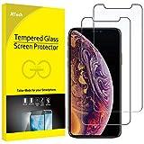 JETech Protector de Pantalla para Apple iPhone XS y iPhone X, Vidrio Templado, 2 Unidades