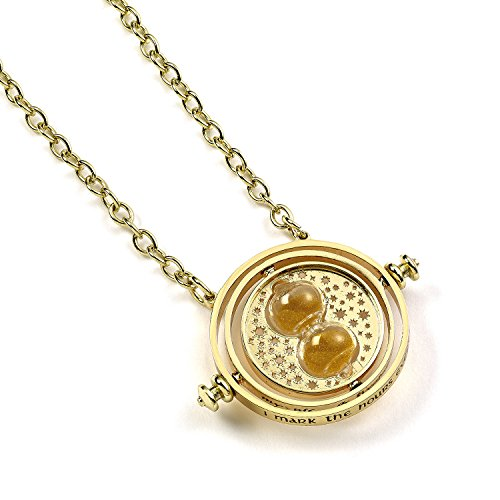 Official Harry Potter Jewelry Spinning Time Turner Necklace (Hermione Granger Harry Potter And The Deathly Hallows)