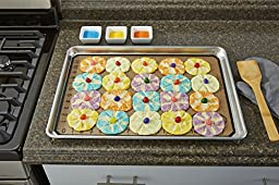 Artisan 2-Piece Professional Baking Set with Quarter-Size Cookie Sheet Pan and Silicone Baking Mat with Ruler Border