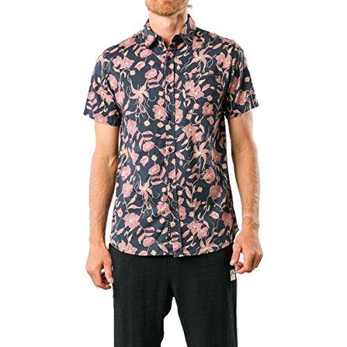 Red Cabin Log (Rusty Men's Log Cabins Shirts,Medium,Blazer)
