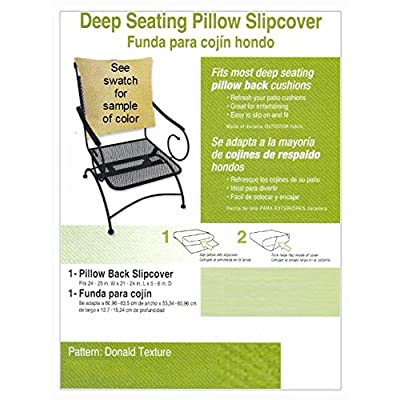"Buffaloe Creek Sales Deep Seat Pillow Back Slipcover ~ Donald Brown ~ Fits 24-25"" Wide x 21-24"" L New : Garden & Outdoor"