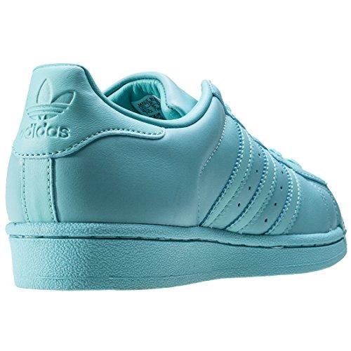 Adidas Superstar Glanset Tå Unisex Trenere Mynte - 9.5 Uk ...