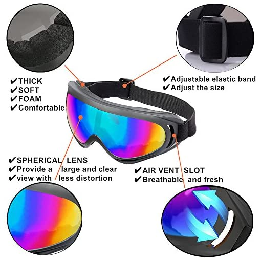 b65182e80a1 LJDJ Ski Goggles Snowboard Adjustable UV Protective Motorcycle ...
