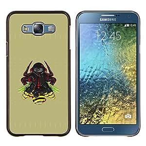EJOOY---Cubierta de la caja de protección para la piel dura ** Samsung Galaxy E7 E700 ** --Samurai Warrior
