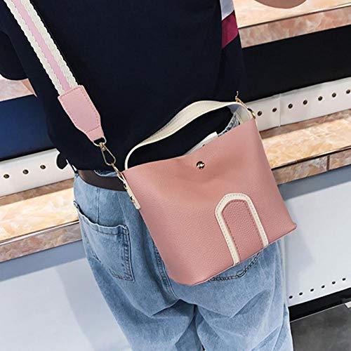 pour Sac à Alexsix bandoulière bandoulière bandoulière Téléphone magnétique Girl Mode Voyage Sac à PU à Pink Mobile Lady Boucle 8g8E6wq4