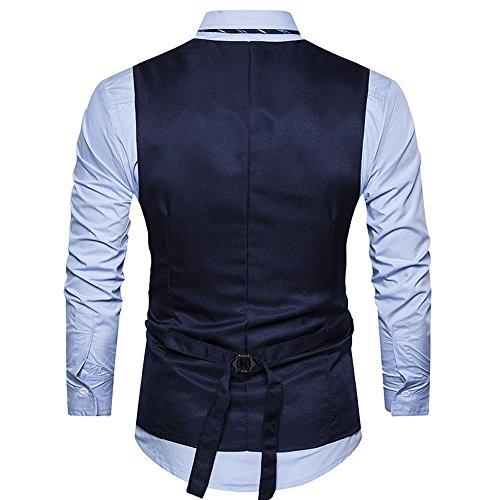 Hommes De À Costume Ihengh Pour Tweed Veste En Ajustée Marine Carreaux zHwE5PqF