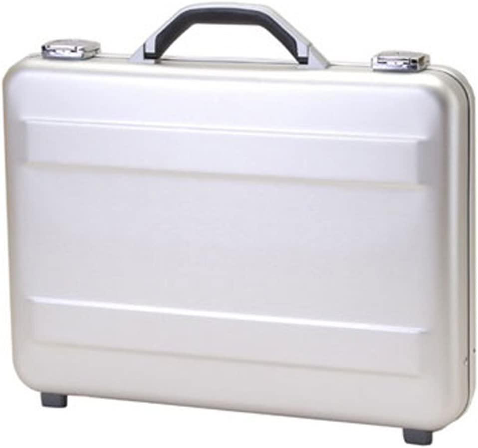 T.Z. Case International T.z Slimline Molded Aluminum Attache Case, Silver, 18 X 13 X 3
