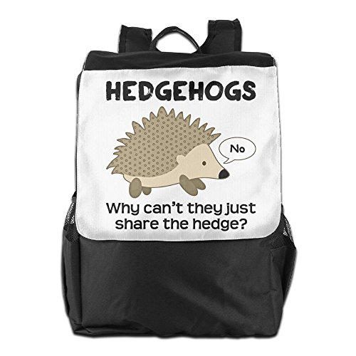 Army Mascot Costume (SHUAIS Why Cant Hedgehogs Share The Hedge School Travel Laptop Shoulders Backpack Bag)