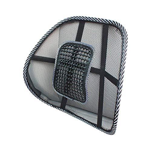 SMAMS ® Almohada de Lumbar de Apoyo Trasero de la Cintura para Sillas de Cojin de Asiento Almohada Corrector de Postura Negro (Pequeno)