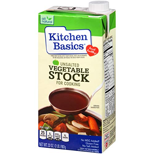 - Kitchen Basics Vegetable Stock, Unsalted, 32 Ounce (Pack of 12)