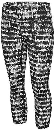Nike Women's Dri-Fit Power Epic Run Crop Tights-Black/White-Large