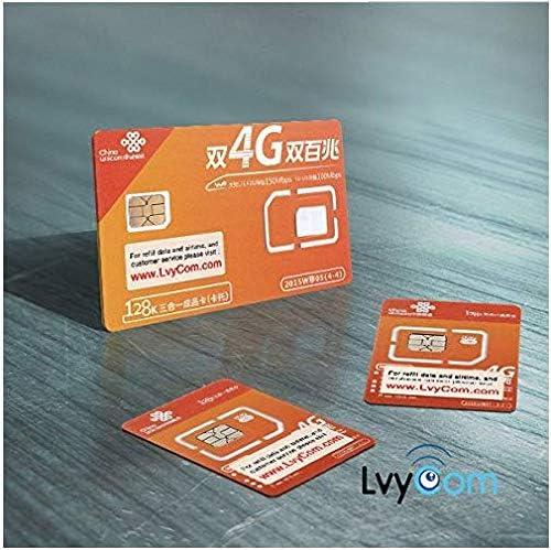Tarjeta SIM de Datos de China 80 GB de Datos 4G LTE válidos para 30 días (3 en 1): Amazon.es: Electrónica